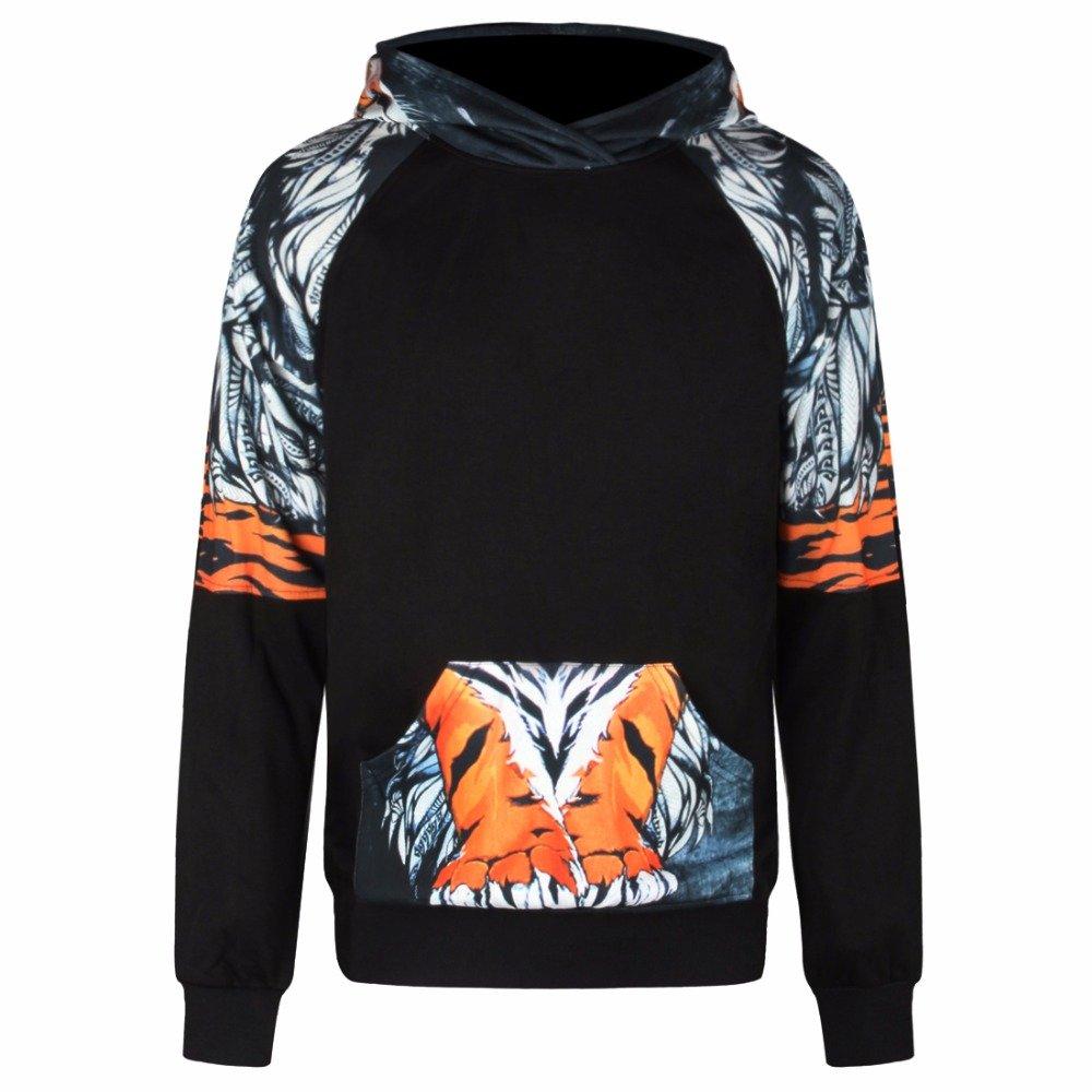 Crochi Men//Women Hoodies 3D Print Thick Hooded Unisex Hoody Pullover Autumn Winter Fleece Hoodie Outfits L
