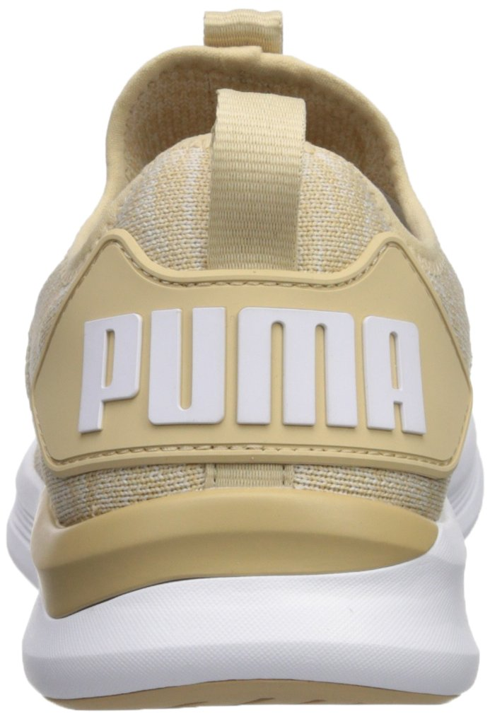 PUMA Women's Ignite Flash Evoknit Wn Sneaker B0752HGR99 6.5 M US|Pebble-whisper White-puma White