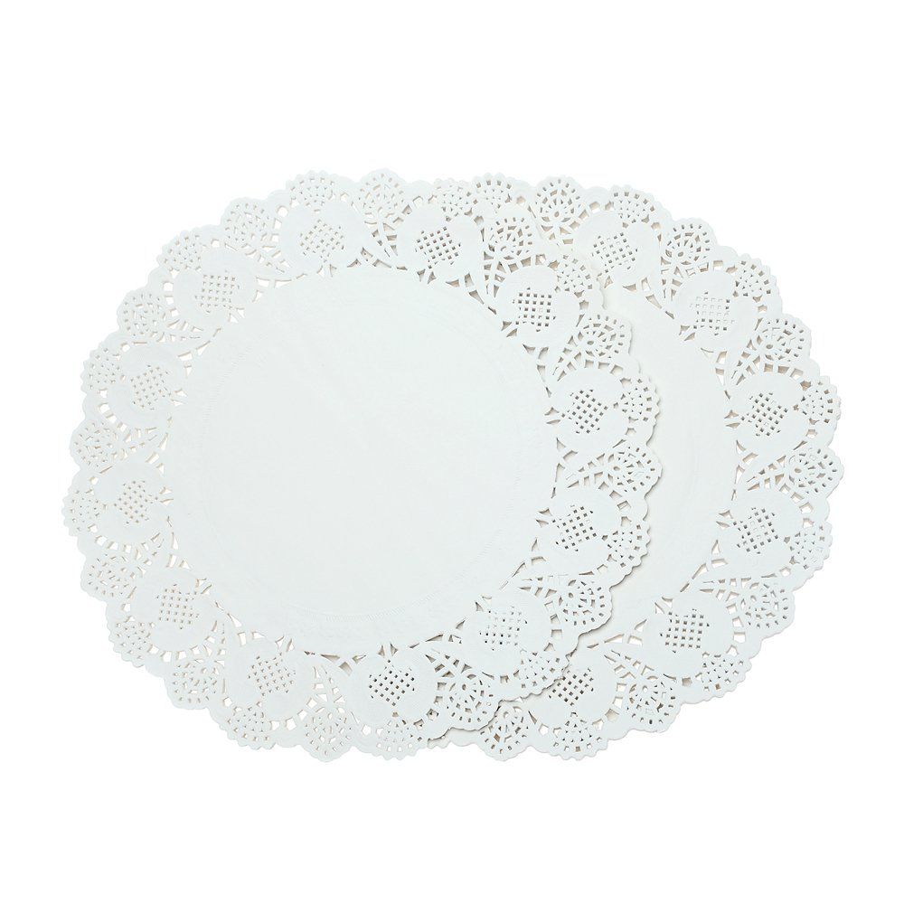 Doilies Paper Lace 12'' Round Off White Cake Placemats Crafting Coaster of Table Supplies Decoration 200pcs
