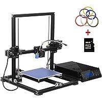 Impresora 3D Aluminum Prusa i3 3D Printer DIY con MK8 actualizada Extrusor Pantalla LCD de capa térmica Máquina de autoensamblaje DIY 3D