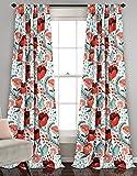 Cheap Lush Decor 16T002396 Poppy Garden Curtain Panel Pair, Window Valance, Multi