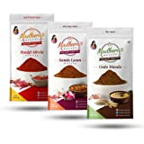 Madhura's recipe Masala (Pack of 3) Goda Masala - Byadgi Mirchi Powder - Kanda Lasun Masala (100 gm Each)