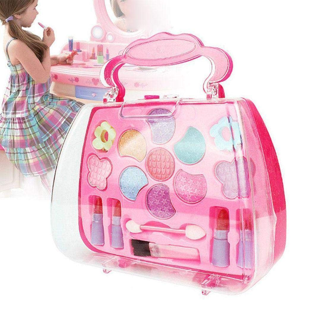 Erholi Girls Make-Up Box Princess Traveling Cosmetic Pretend Play Toy Set for Kids Gift Makeup by erholi (Image #2)