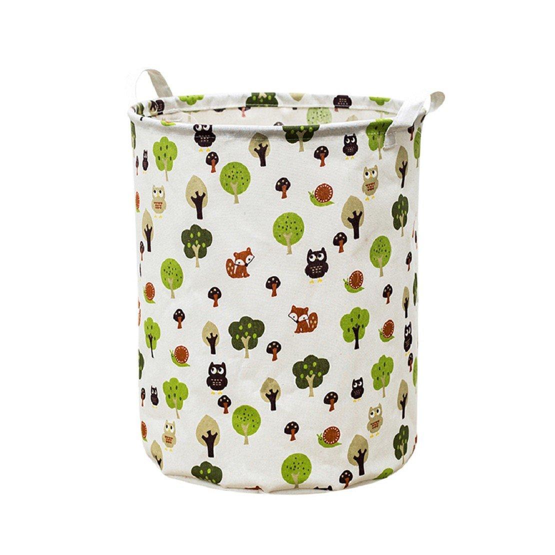 ❤️Amlaiworld Cesta de ropa impermeable del lienzo Cesta de almacenamiento Caja de almacenamiento plegable bolsa de almacenamiento juguetes (A, 44 * 35cm(42L))