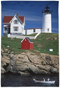 Graphics and More Nubble Lighthouse Maine ME Garden Yard Flag (Pole Not Included)