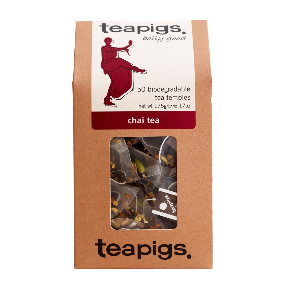 Teapigs Chai Tea Bags Made With Whole Leaves (1 Pack of 50 Tea bags)