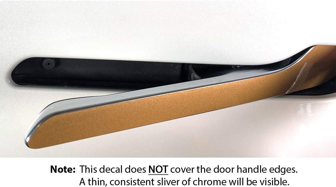 Custom Cut Graphics Tesla Model 3//Y Door Handle Wrap Gloss Red