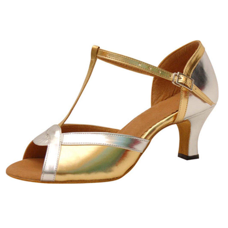 - LEIT YFF Cadeaux Femmes Dance Danse Danse Latine Dance Tango Chaussures 6CM,oren,35