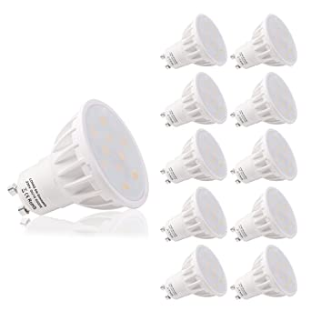 LOHAS Regulable 6W LED GU10 Bombillas, Equivalente a 50W Para Lámparas Halógenas, 6000K Blanco