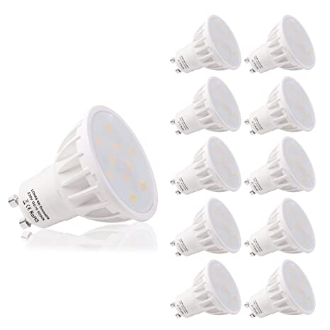 LOHAS Regulable 6W LED GU10 Bombillas, Equivalente a 50W Para Lámparas Halógenas, 6000K Blanco