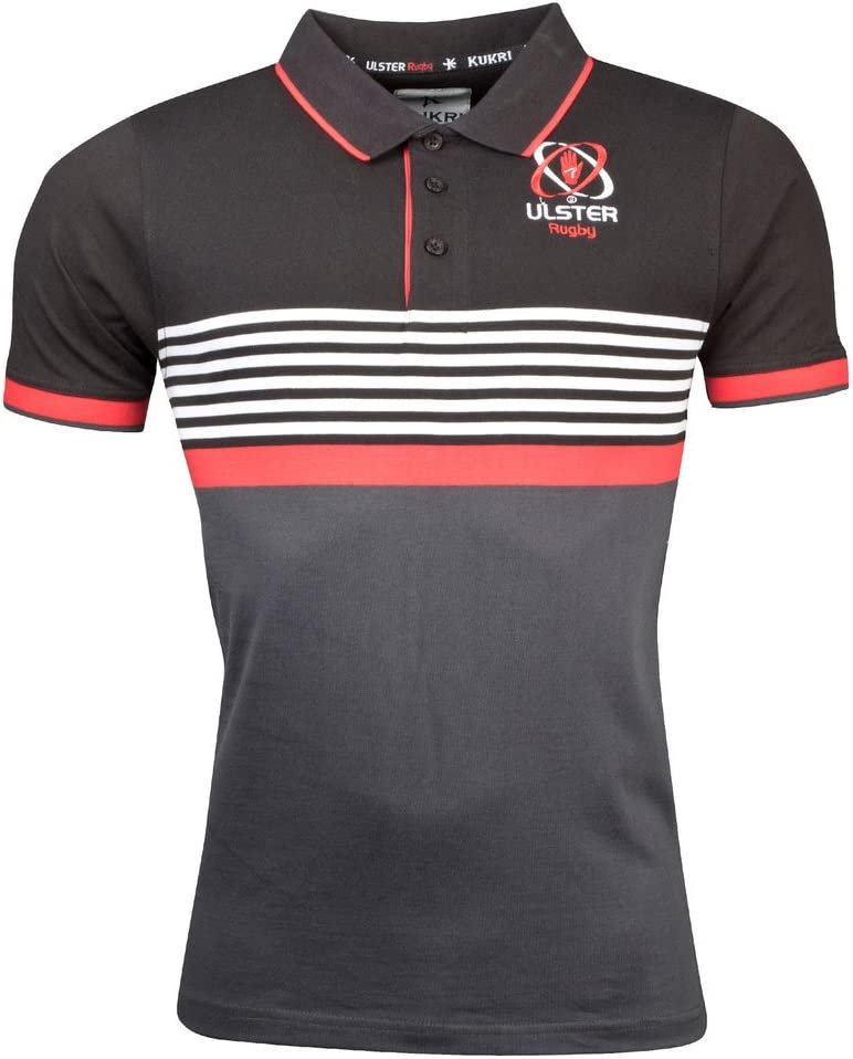 Ulster Rugby Athletic Fit Yarn Dye Polo 17 / 18 – ブラック  Small
