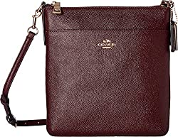 COACH Women's Crossgrain Leather Courier Crossbody LI/Deep Coral Crossbody Bag