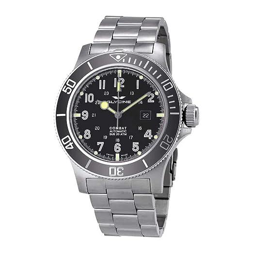 Glycine Combat SUB automático negro Dial Mens Reloj gl0095: Amazon.es: Relojes
