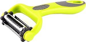3 in 1 Peeler Slicer Shredder Multi Functional Peeling Tool Straight, Serrated, Julienne Blades Easy to Slice Pare Shred Kitchen Gadged Slicing Shreding Kit for Vegetables, Fruits