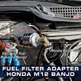 GlowShift Fuel Pressure Banjo Bolt Sensor Adapter
