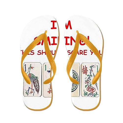 039ea7db25711 Amazon.com   CafePress - Mahjong Joke - Flip Flops, Funny Thong ...