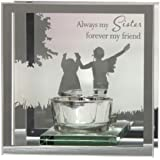 Juliana Always My Sister Forever My Friend riflessi dal Cuore Specchio tealight