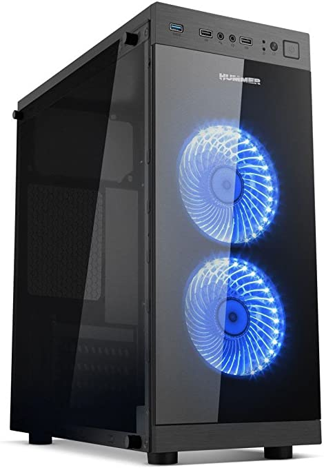 Nox Hummer - NXHUMMERTGS - Caja PC, Mini Torre, ATX, Color Negro ...