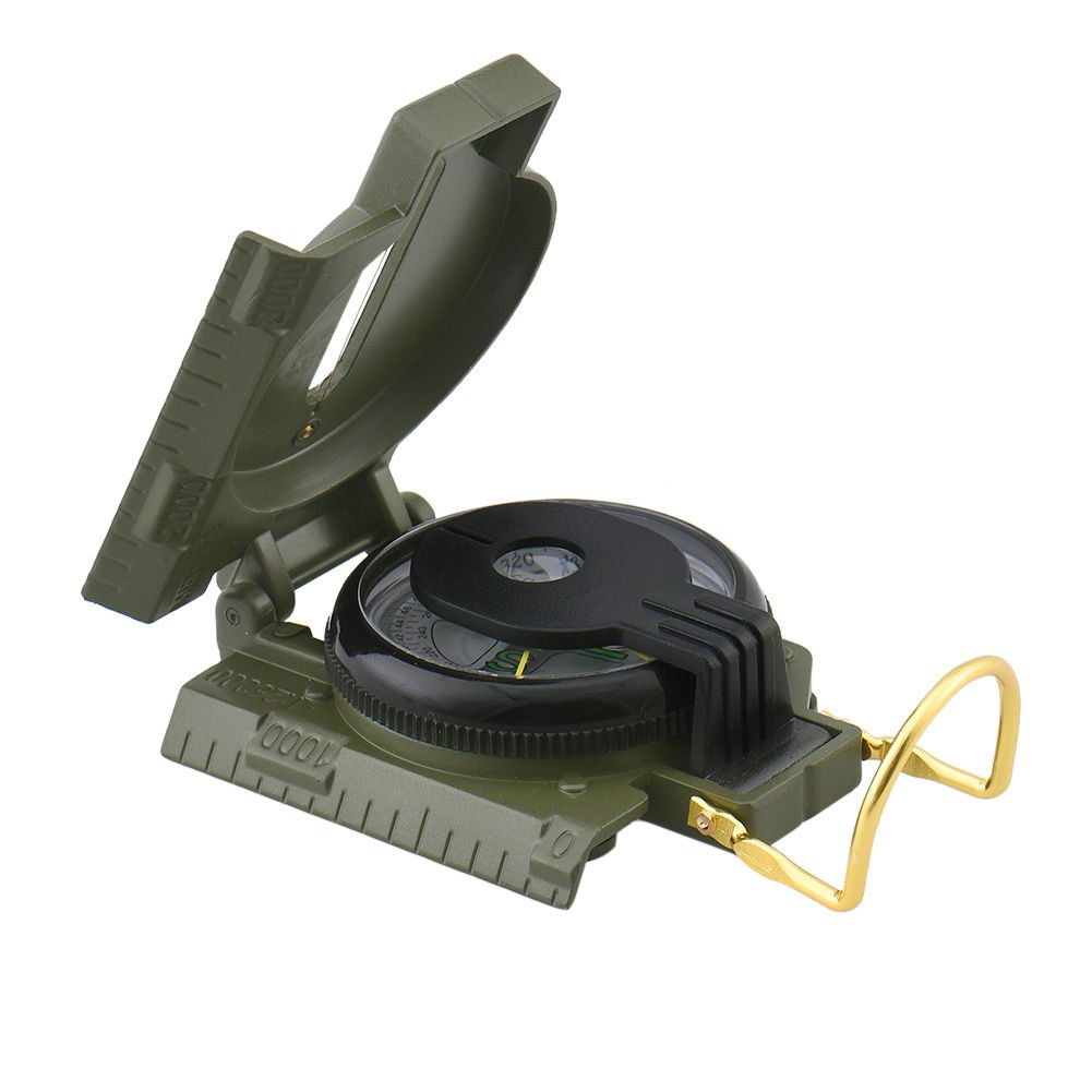 サバイバルMiniポケットコンパスLensaticアウトドアMilitary Armyハイキングキャンプレンズ B07328GWS9