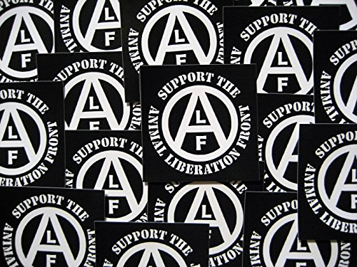 Lot of 5 Animal Liberation Front (ALF) Stickers - Vegan Vegetarian Rights Welfare Anti Authority Establishment Corporation Testing Meat is Murder Social Political Class War Activism Anarchism