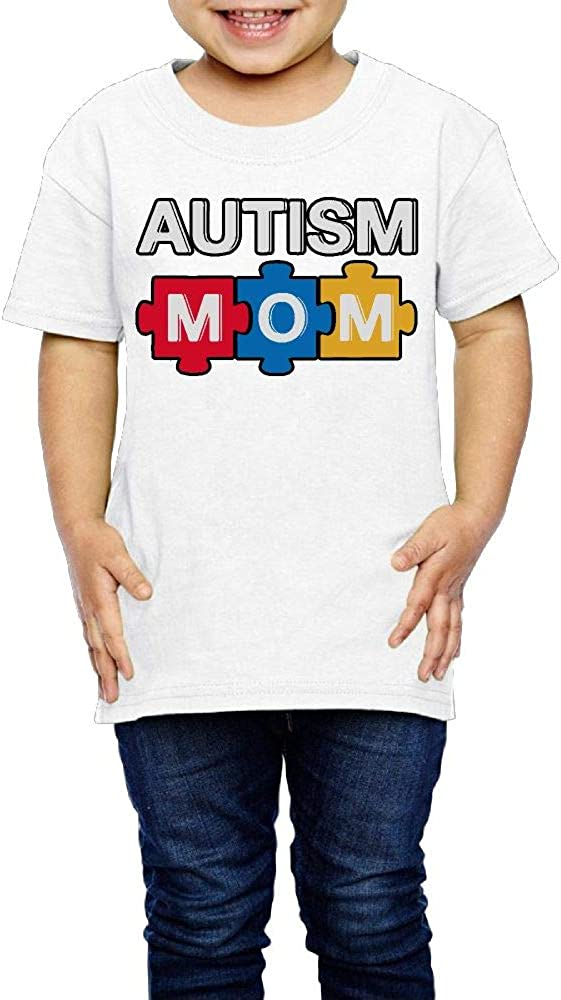 Autism Awareness Boys Girls Cute T-Shirt Graphic Tee Kcloer24 Autism Mom 2-6 Years Old