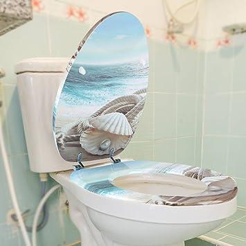 GOTOTOP Original Abattant Couvercle de Toilette 3D Siège de Toilette ...