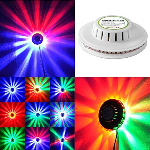 Ingleby Sunflower LED Stage Light Magic 7 Color RGB Rotating Lights for Children's Party Wedding Birthday Celebration Event Lighting Show -