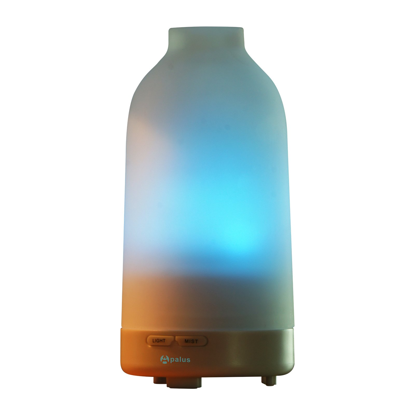 Apalus Glass Essential Oil Diffuser, Aromatherapy Diffuser, Ultrasonic Humidifier Air Purifier, with 7- Color LED Light,Auto Shut off