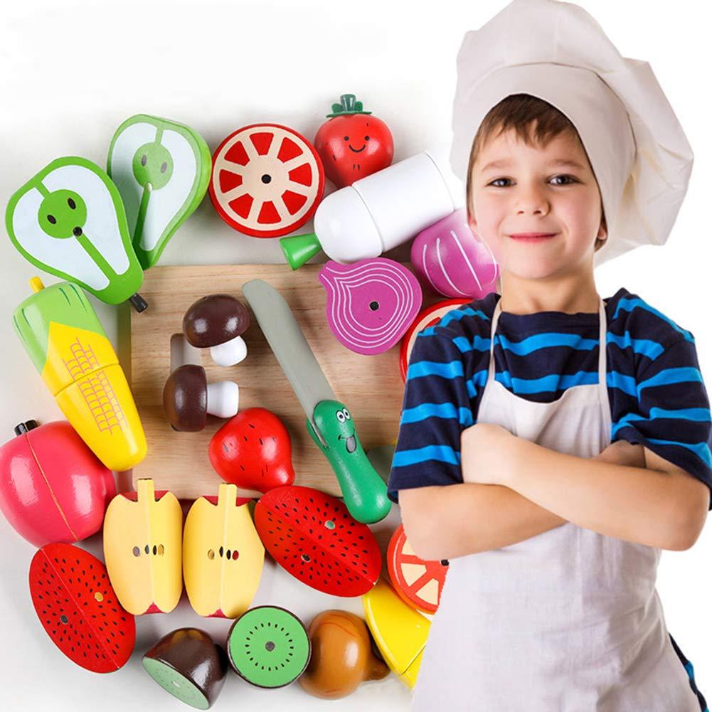 Ocamo Juguetes de Vegetales y Frutas, Juego de Cocina Juego de Juguetes de imitación,16 Unids / Set