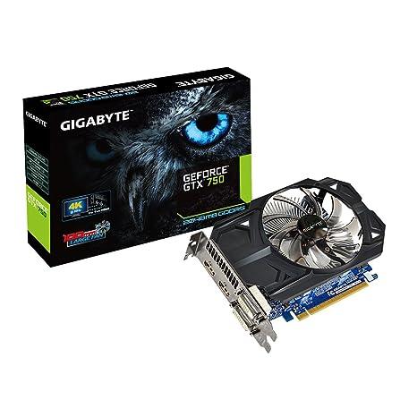 Gigabyte GeForce GTX 750 - Tarjeta gráfica (NVIDIA, 2 GB de RAM, GDDR5-SDRAM, 1059 MHz)