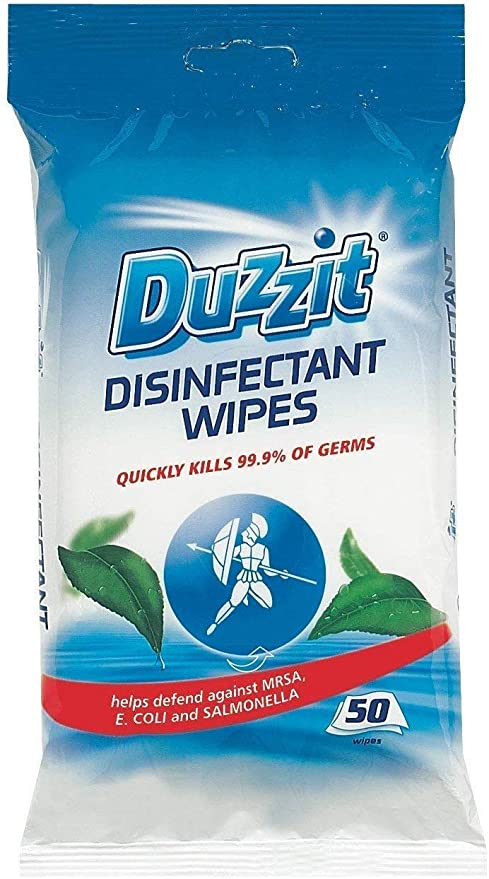 50 Wipes by Duzzit Disinfectant Wipes