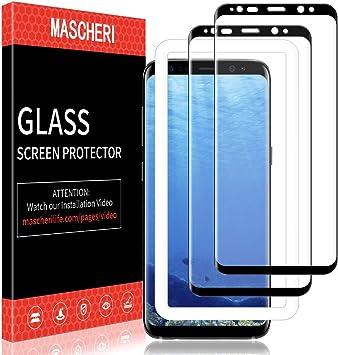 MASCHERI Protector de Pantalla para Samsung Galaxy S8, [2-Unidades ...