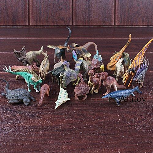 24pcs/set Jurassic Park Figure Jurassic World Toys Small Dinosaur Toys for Children Dinosaur Gift Animal Action -