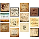 Classic Quotes Motivational Poster Set. Discount Classroom Bundle Featuring Thoreau, Jefferson, Wilde, Dickinson, Poe and more.