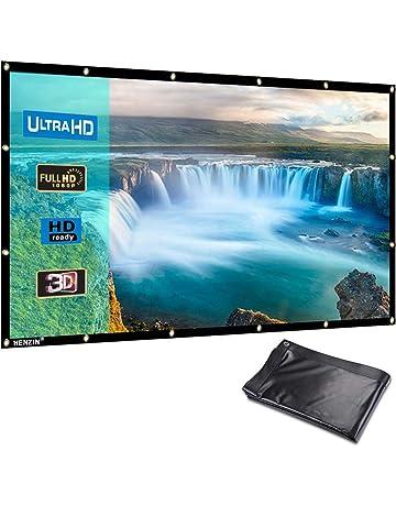 Omzer 120 Zoll Tragbarer Projektor Bildschirm 16 9 Hd Faltbarer Anti-falten Pr Tv, Video & Audio