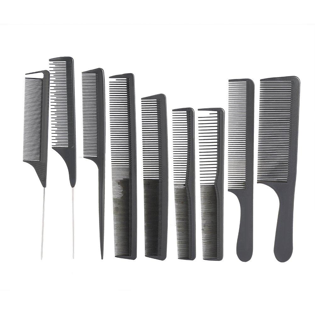 Kit Parrucchiere Pettine 10 con Borsa Professionale per Barbiere Strumento di Taglio di capelli ZJchao