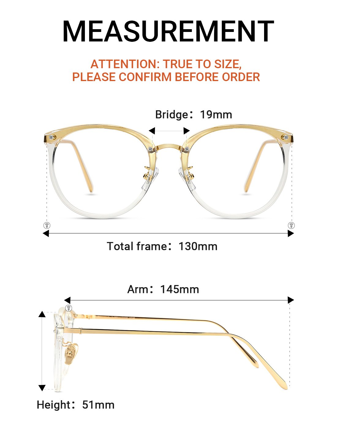 5cbb254522 TIJN Vintage Round Metal Optical Eyewear Non-prescription Eyeglasses Frame  for Women
