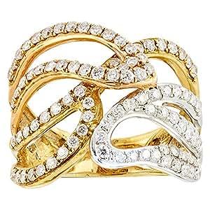 Eternal Jewels Ladies 18K Yellow Gold Fashion Ring