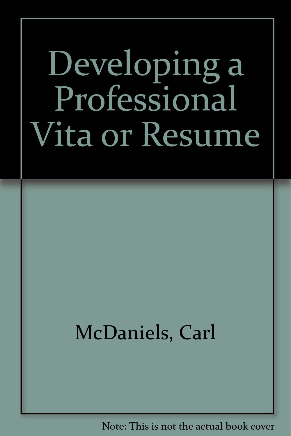 Developing A Professional Vita Or Resume Carl Mcdaniels