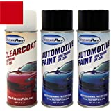 ExpressPaint Aerosol - Automotive Touch-up Paint for Ford F-Series, F150, F250, F350 - Ruby Red Metallic Tricoat RR - Color +