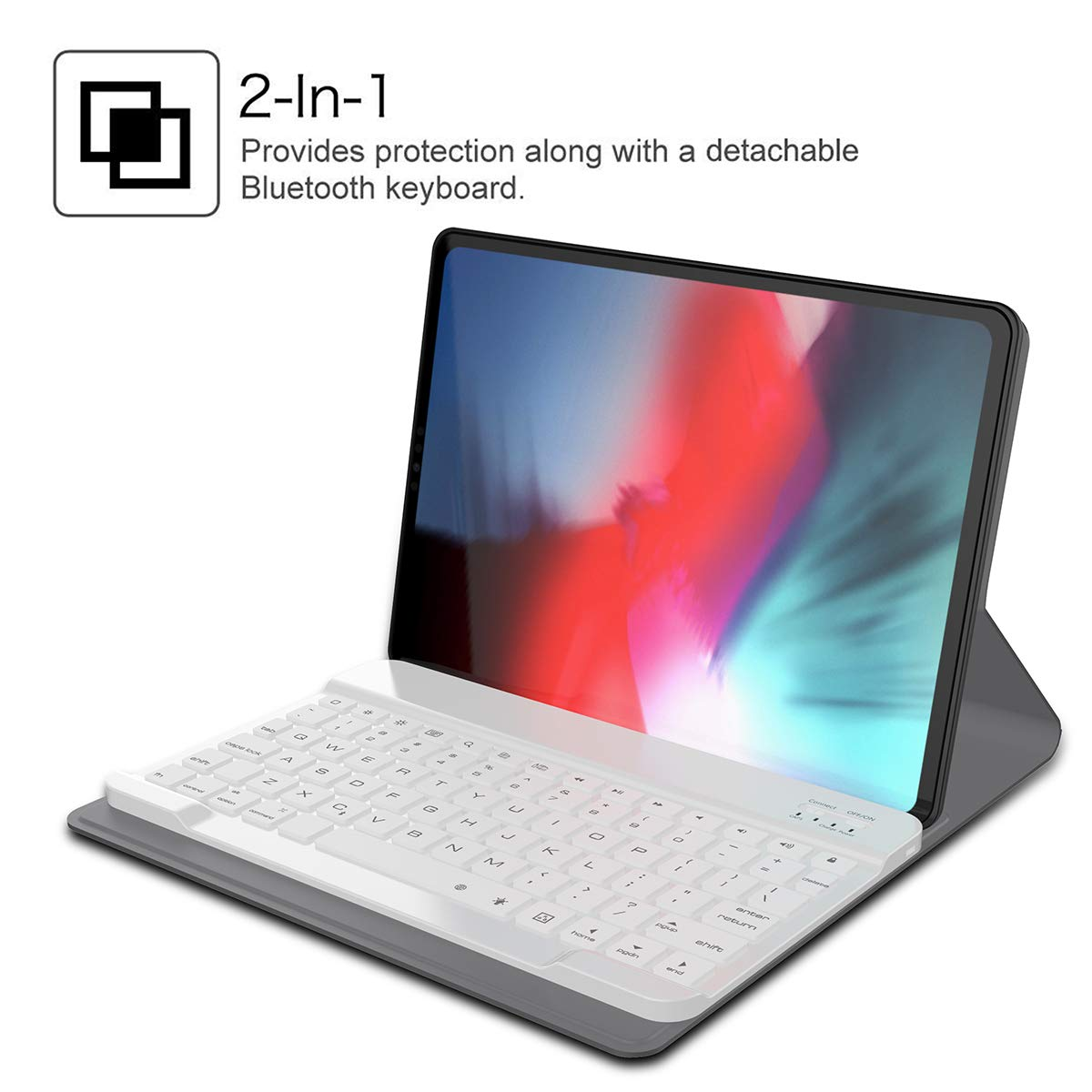 Amazon.com: iPad Pro 11 Inch Keyboard Case 2018 Fall New, Fusutonus - Detachable Tablet Shell Leather, Wireless Keyboard and Smart Case, Anti-Scratch Full ...