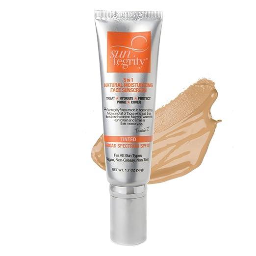 5 in 1 Natural Moisturizing Face Sunscreen SPF 30 - Medium