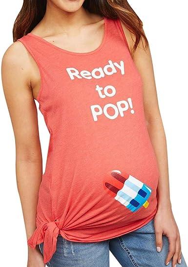 Mitlfuny Camiseta de Lactancia Maternidad a Rayas Chaleco Camisa Mujer Blusa Mujeres Maternidad Helado Sin Mangas Embarazo Enfermería Bebé Tops Chaleco Blusa: Amazon.es: Ropa y accesorios