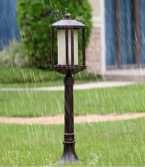 Nkssztd Pilar de luz Exterior para Exteriores, Metal Dorado Negro en Estilo Victoriano para Exteriores, jardín, Patio, Camino E27 [Clase de eficiencia energética A]: Amazon.es: Hogar