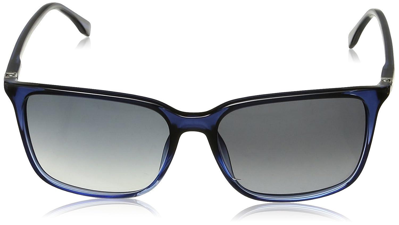 Hugo Boss Herren Sonnenbrille Boss 0666/S HD TU4, Blau (Shaded Blue/Grey Sf), 56
