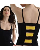 Margarita - Activewear - Top - Black with Yellow Stripes