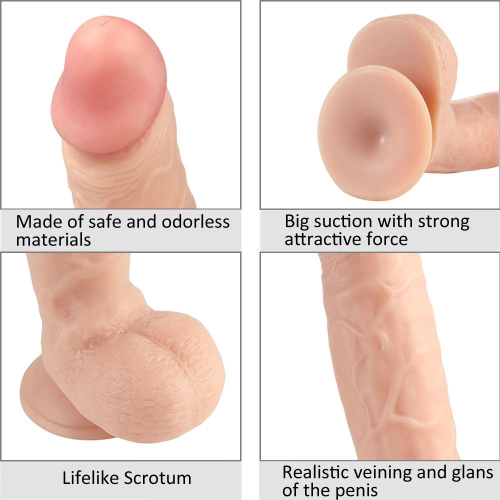 9.5 inch Relaistic Silicone Dǐldo with Suction Cup Base - Pleasure Never Looked So Fun