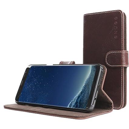 Snugg Funda Galaxy S8, Carcasa Plegable para Samsung Galaxy S8 [Ranuras para Tarjetas] Cubierta de Cuero con Billetera, Diseño Ejecutivo [Garantía de ...