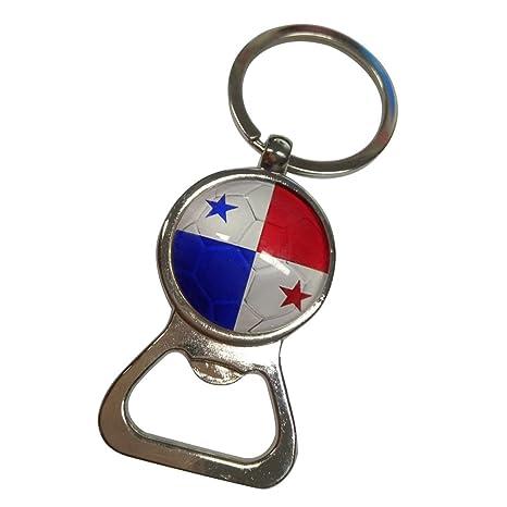 LUOEM Abrebotellas de la bandera llavero anillo garra bolsillo de fútbol abrebotellas de la bebida pequeña