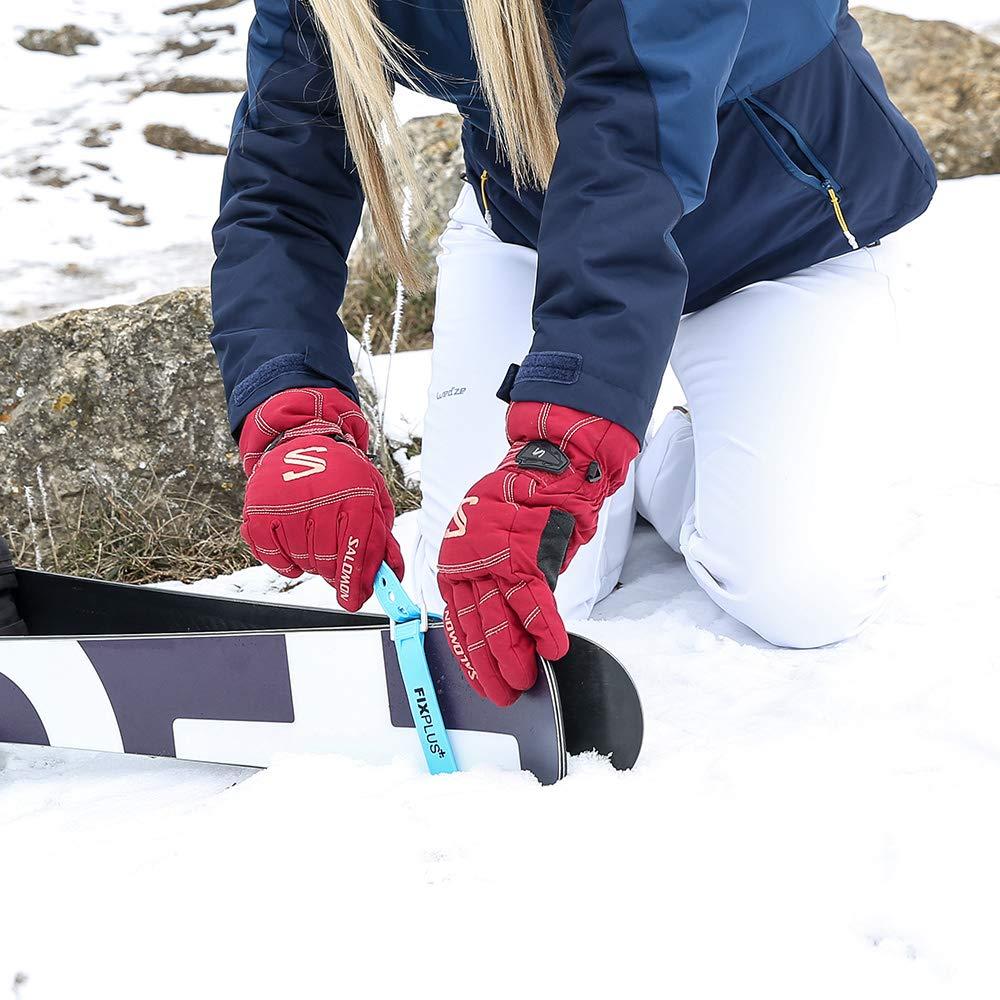 Rojo Fixplus Strap de 4/Pack/ /Amarre para Fijar de pl/ástico Especial con Hebilla de Aluminio 35/cm x 2,4/cm en Azul Fijar empaquetado y Fijo zurren Morado o Negro